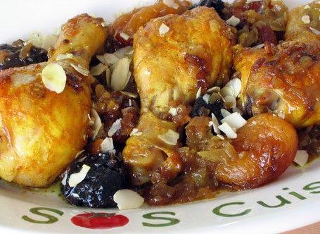 poulet avec fruits séchés