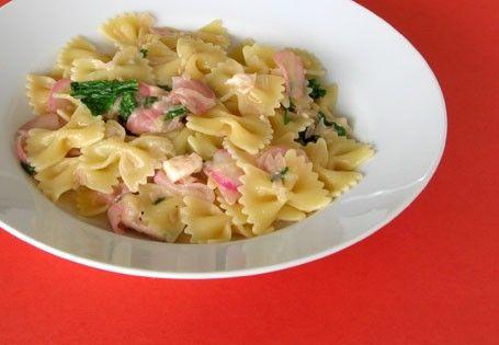 Pasta with radishes