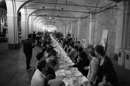 un eat-in en Italie