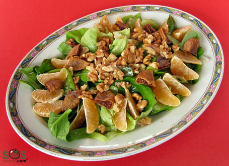 Lettuce, Fig, and Clementine Salad
