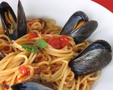 mussels spaghetti