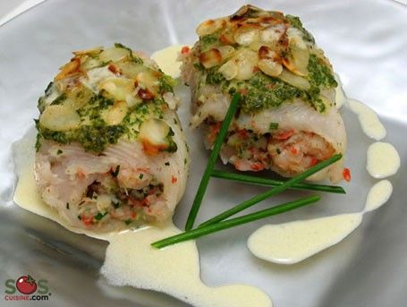 Stuffed Sole Fillets with Lime Sauce