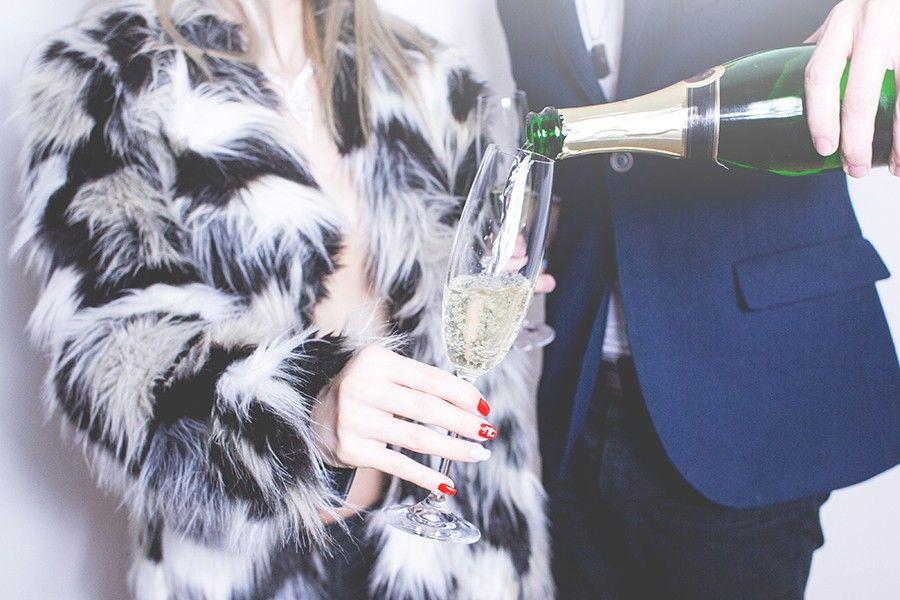 boire champagne coupe