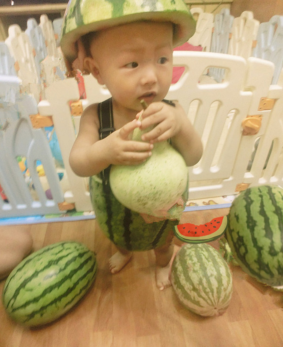 Cooling off with watermelon …