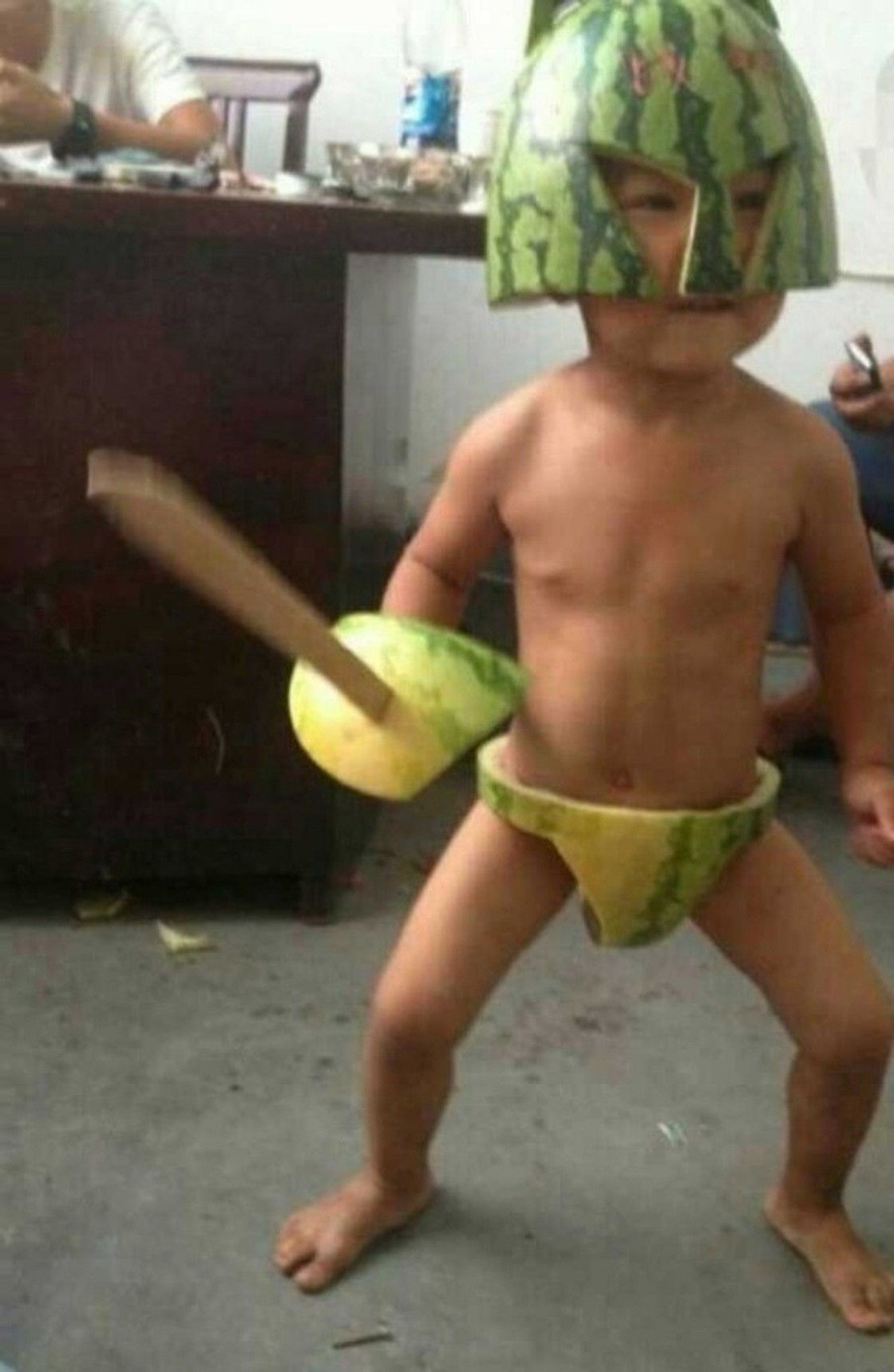 Warrior watermelon ...