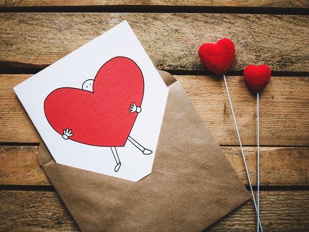 valentine card carte