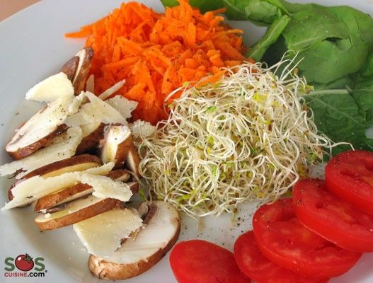 SOSCuisine/Try out alfalfa in our Crudités Salad with Alfalfa Sprouts