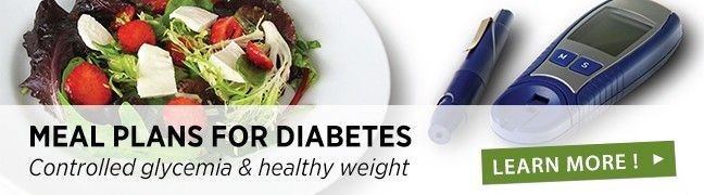 Meal plans for diabetes
