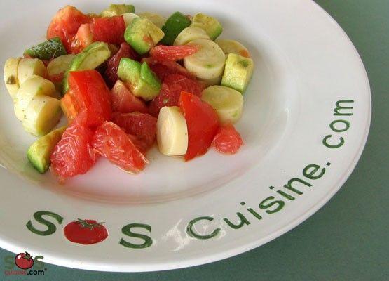 SOSCuisine/Salade exquise aux coeurs de palmier