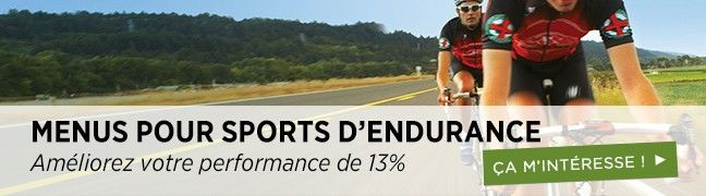 Menus pour sports d'endurance