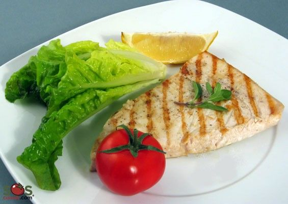 Marinated Swordfish with Marjoram