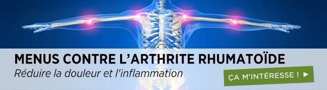 Menus intelligents pour l'arthrite rheumatoide'