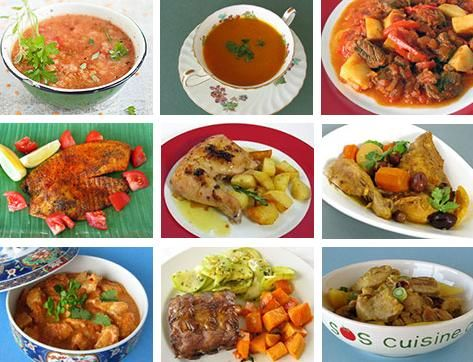 spiced dishes