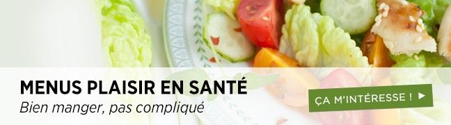 Menus santé Healthy Meal Plans