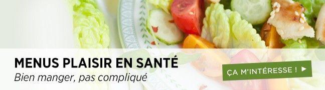 Menus santé Healthy Meal Plans