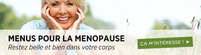 Menus pour ménopause