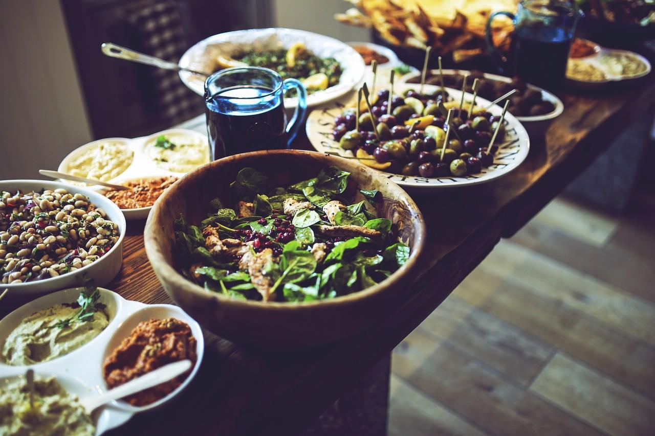 diner mediterraneen, mediterranean lunch