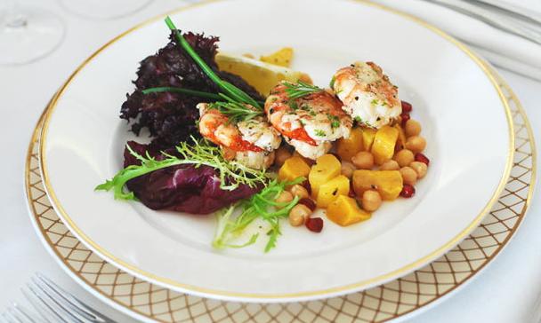 Kebab de crevettes de Oman Air