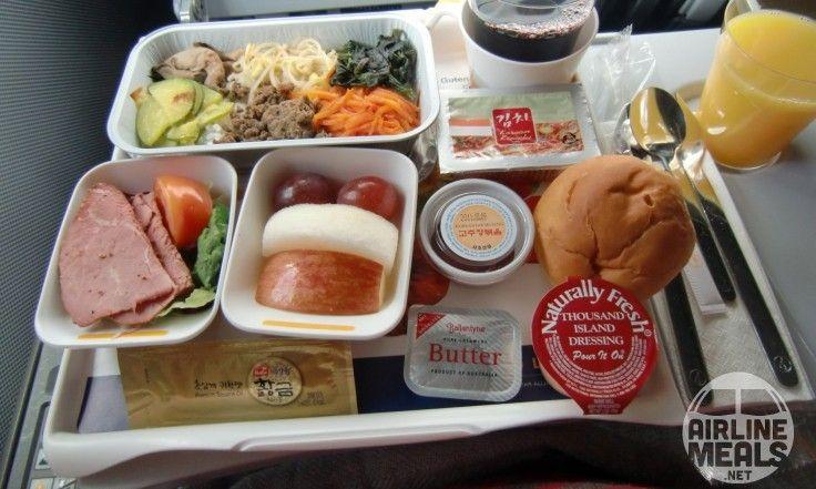 bœuf et légumes Lufthansa