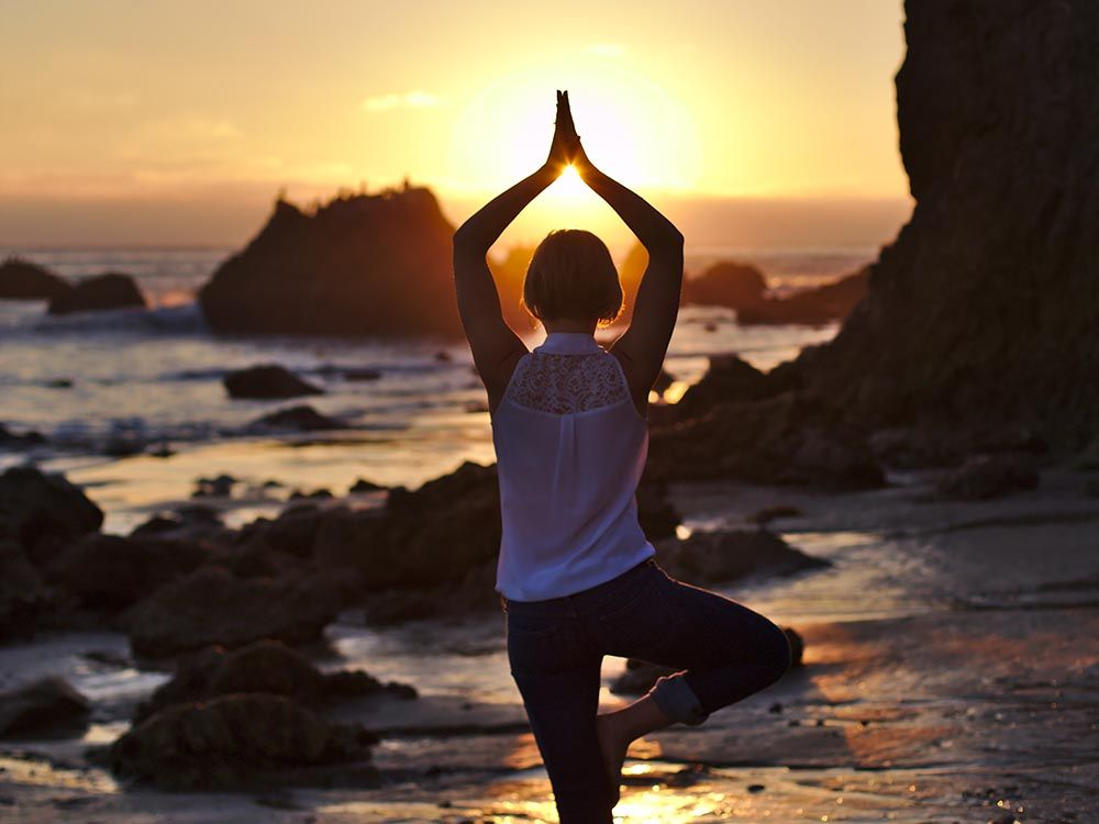 yoga-sunset