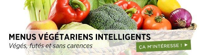 Menus végétariens intelligents