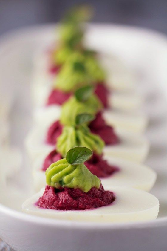 Beet-and-Avocado-Deviled-Eggs