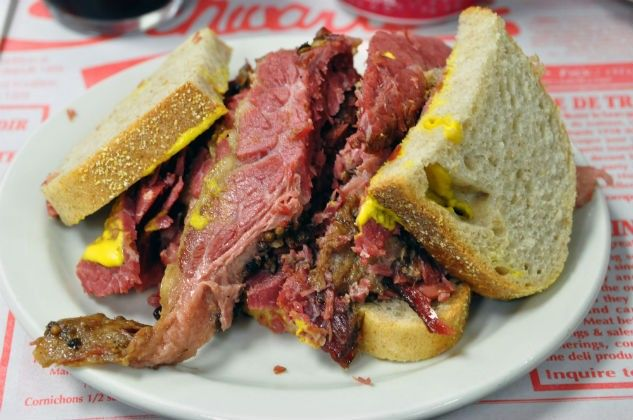 Schwarts' smoked meat from Montreal