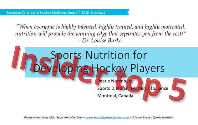 Insider nutrition from Bratislava's Hockey Medicine Conference