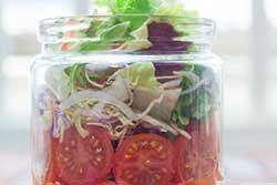 Comment faire une «salade dans un pot»