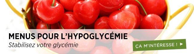 Menus pour l'hypoglycémie