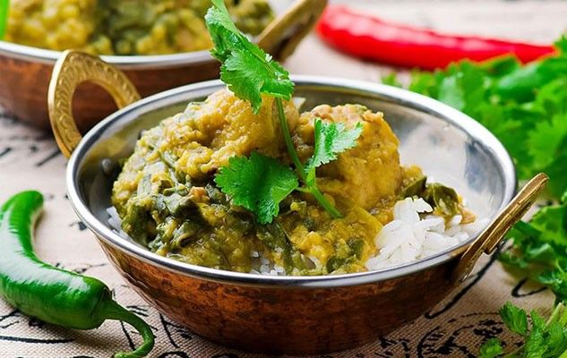 Curried Chicken and Spinach