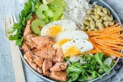 Salmon and Rice Buddha Bowl