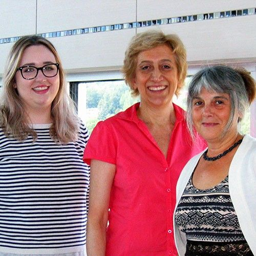 équipe de nutrition et Cinzia Cuneo