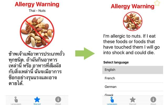 Clever tips for travelling with food allergies soscuisine allergy app forumfinder Choice Image