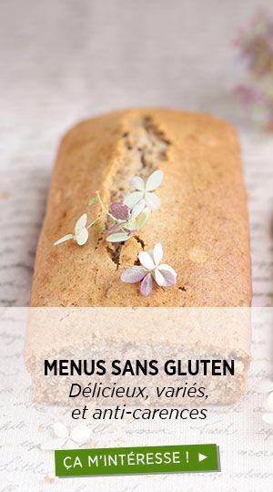 Menus sans gluten