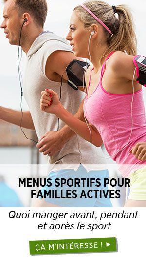 Menus pour le sport et performer
