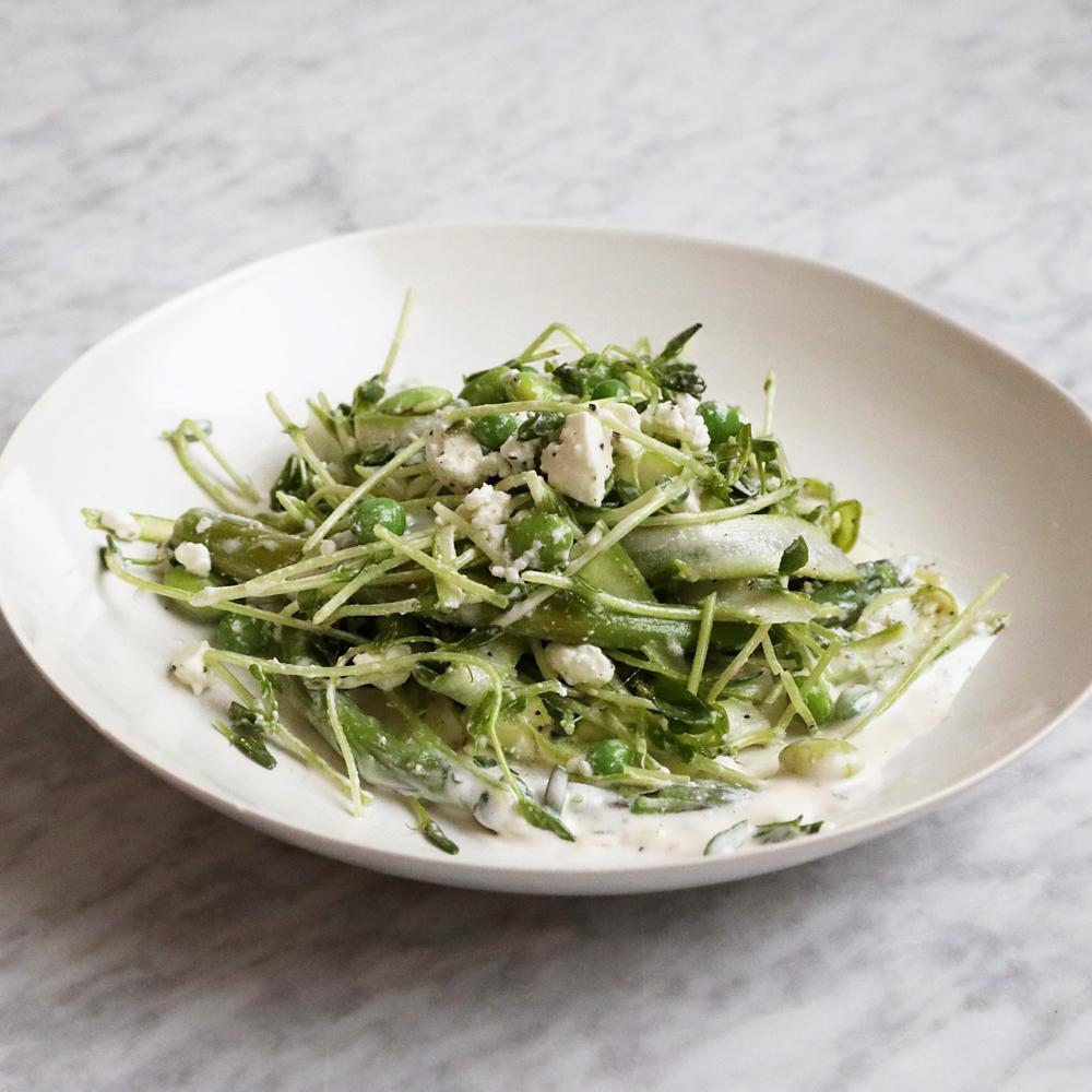 Spring Asparagus Salad with Feta