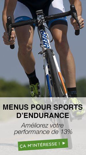 Menus surcharge pour sports d'endurance