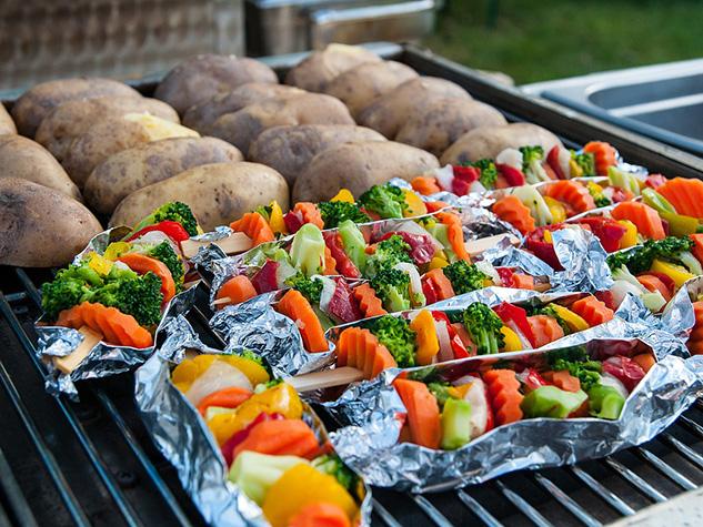 bbq barbecue grilling végétarien légumes vegetarian vegetables