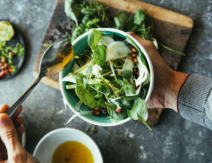 Carminative herbs and spices fennel mixed green salad