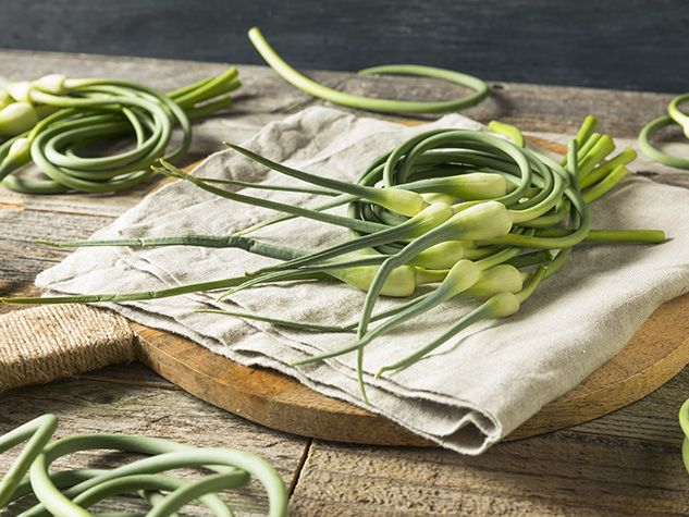 Garlic scapes,